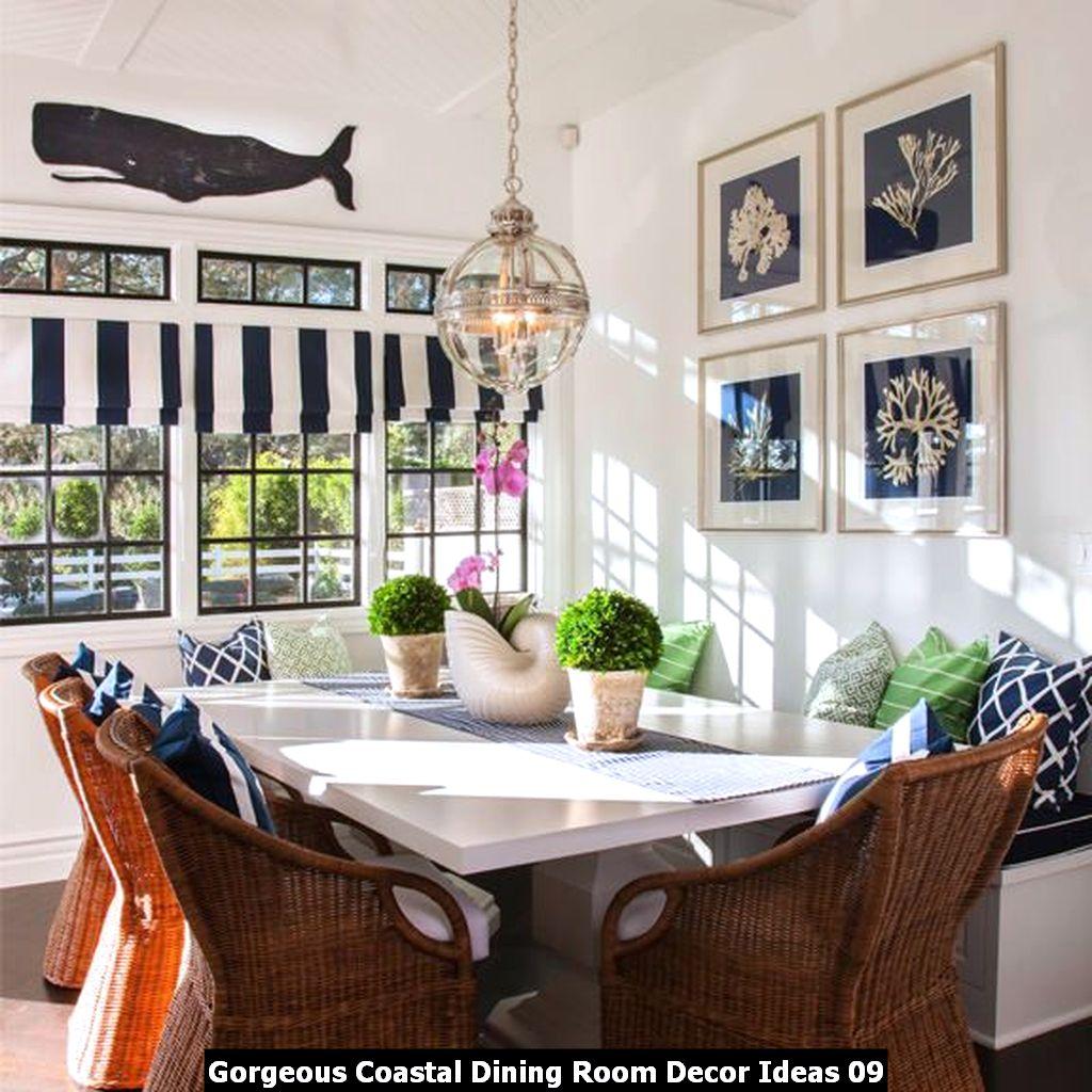 Gorgeous Coastal Dining Room Decor Ideas 09
