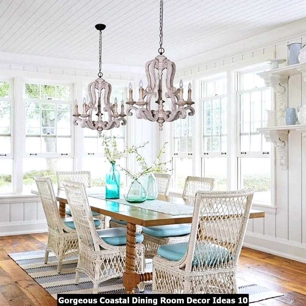 Gorgeous Coastal Dining Room Decor Ideas 10
