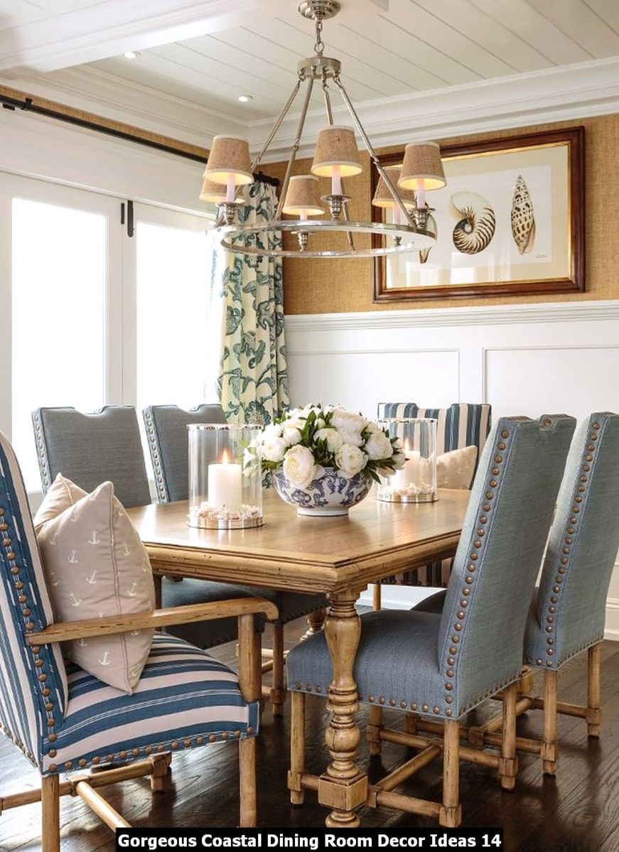 Gorgeous Coastal Dining Room Decor Ideas 14