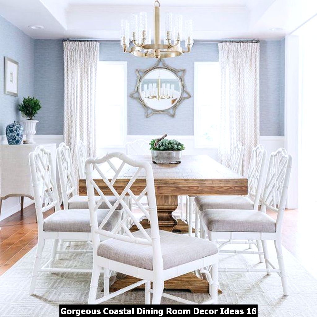 Gorgeous Coastal Dining Room Decor Ideas 16