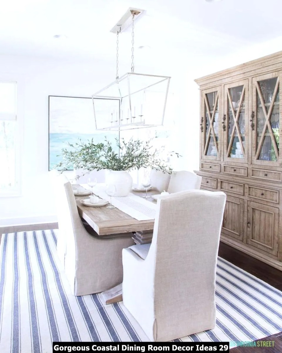 Gorgeous Coastal Dining Room Decor Ideas 29