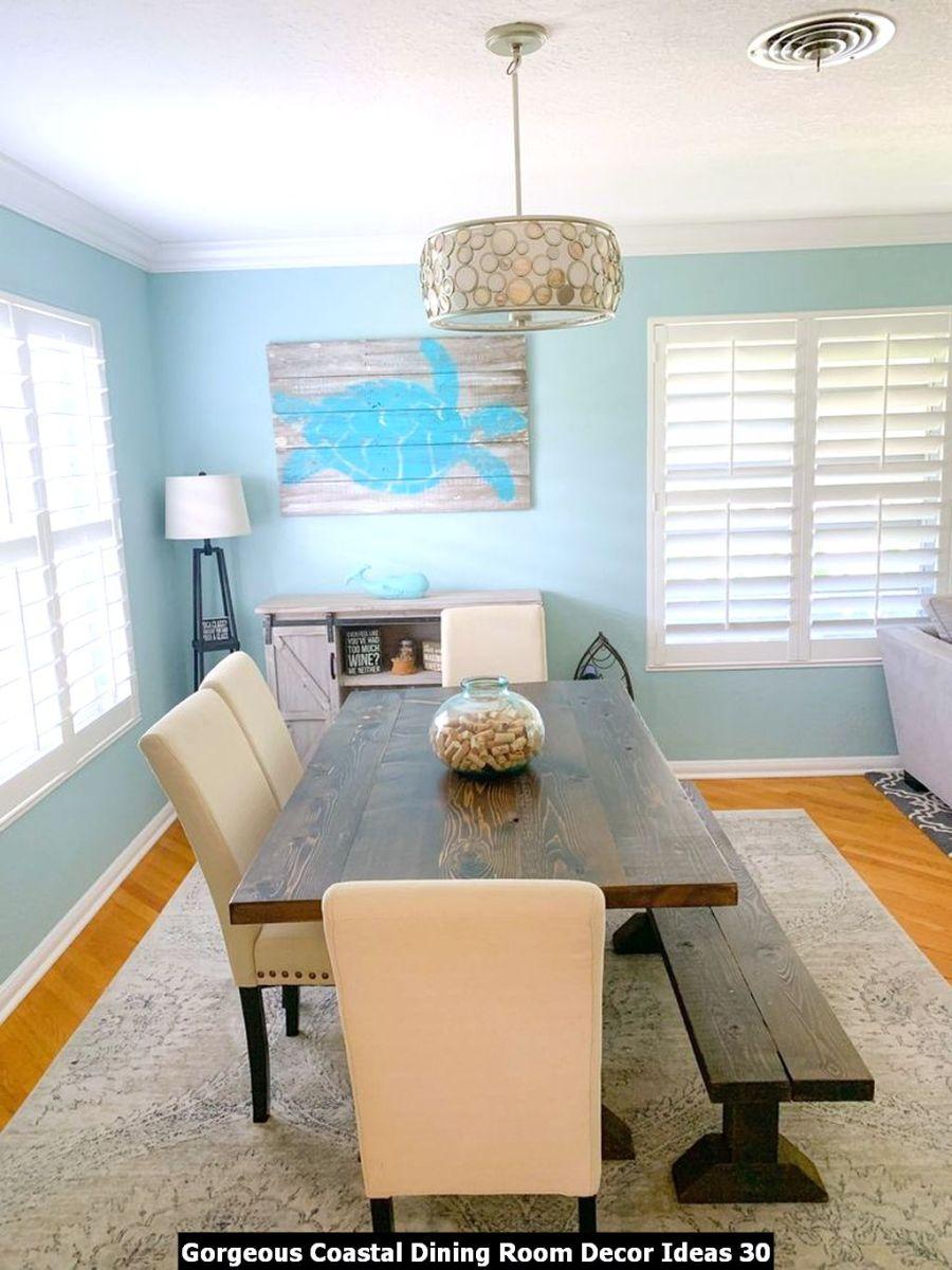 Gorgeous Coastal Dining Room Decor Ideas 30