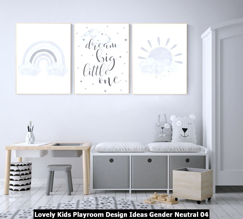 Lovely Kids Playroom Design Ideas Gender Neutral 04