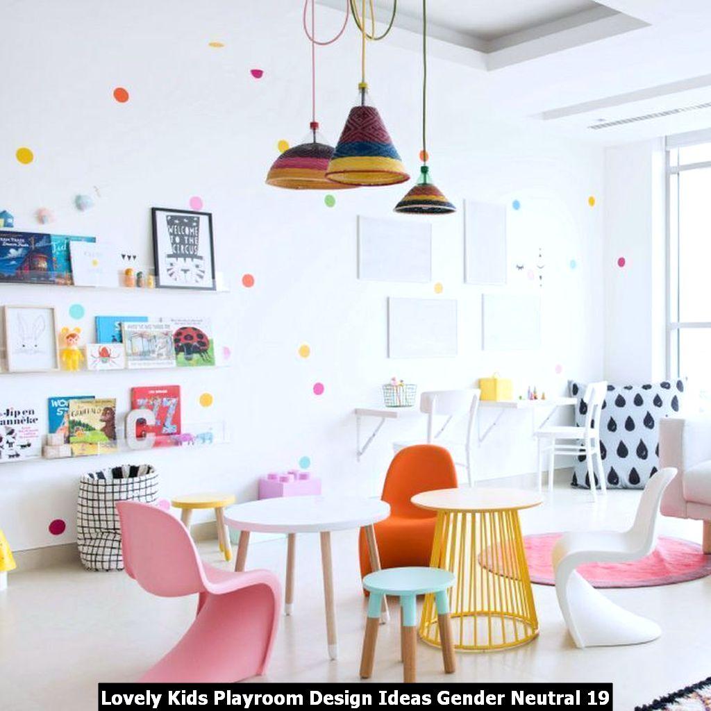 Lovely Kids Playroom Design Ideas Gender Neutral 19
