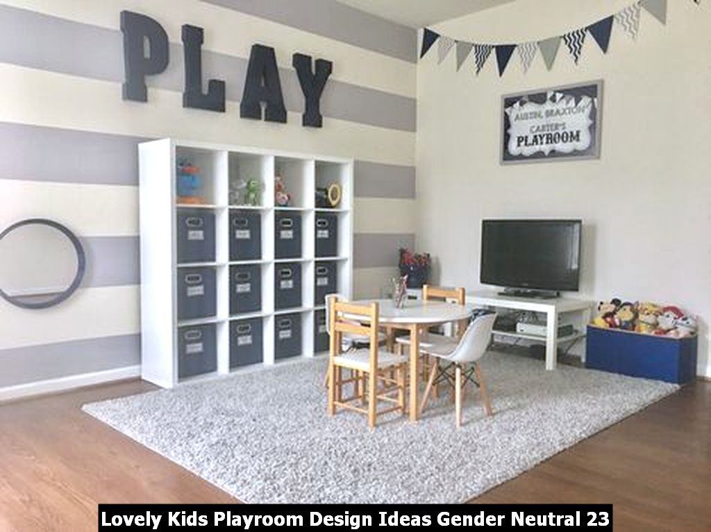 Lovely Kids Playroom Design Ideas Gender Neutral 23
