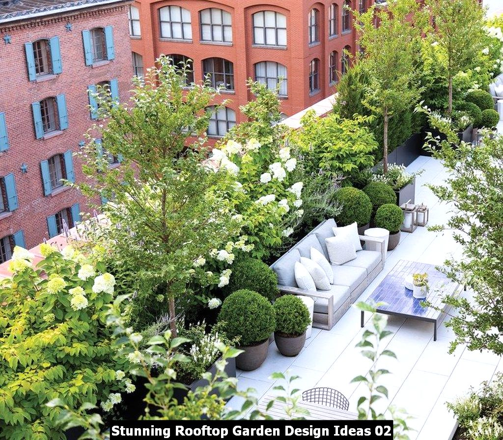 Stunning Rooftop Garden Design Ideas 02