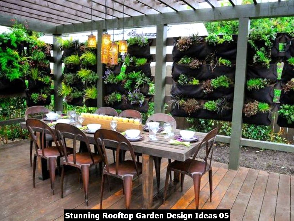Stunning Rooftop Garden Design Ideas 05