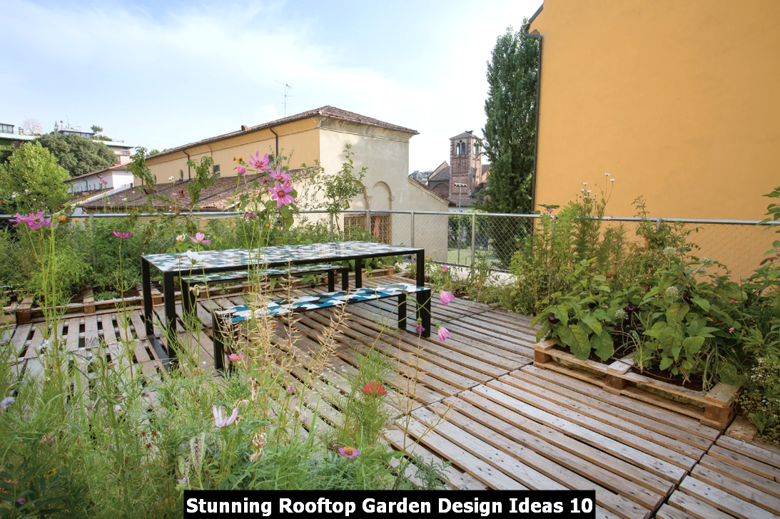 Stunning Rooftop Garden Design Ideas 10