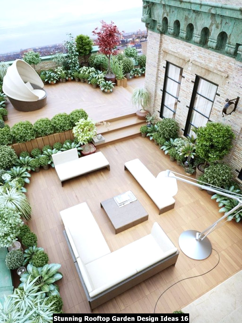 Stunning Rooftop Garden Design Ideas 16