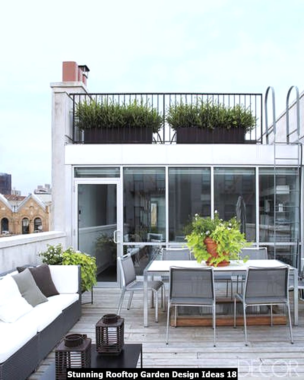 Stunning Rooftop Garden Design Ideas 18