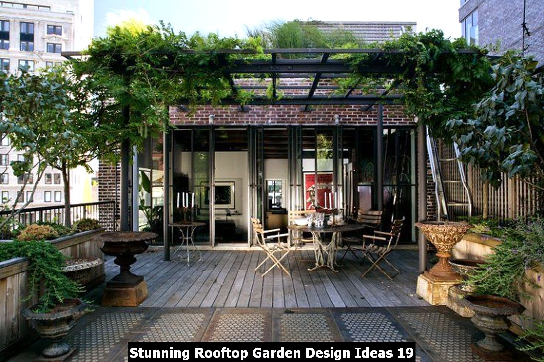 Stunning Rooftop Garden Design Ideas 19