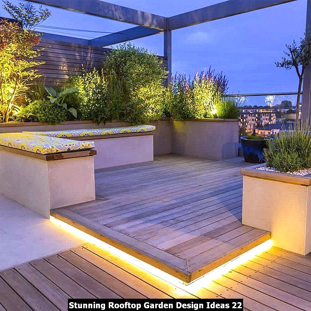 Stunning Rooftop Garden Design Ideas 22