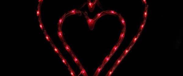 Lighted Valentine Window Decorations