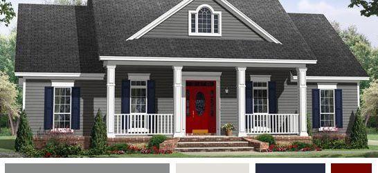 Grey House Exterior Color Schemes