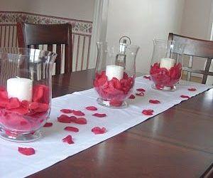 Simple Valentine Table Decorations