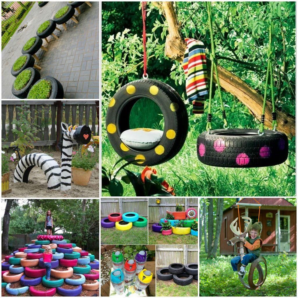 DIY Tire Garden Ideas
