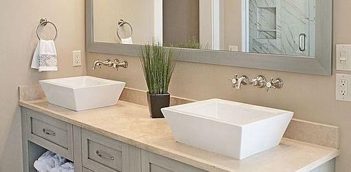Bathroom Double Sink Countertop