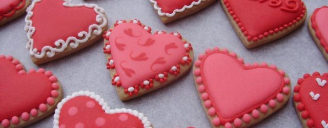 Valentine's Day Decorated Cookies