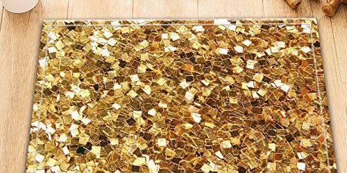Gold Bathroom Rugs