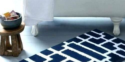 Navy Blue Bathroom Rugs