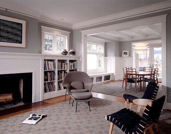 Modern Craftsman Style House Interior