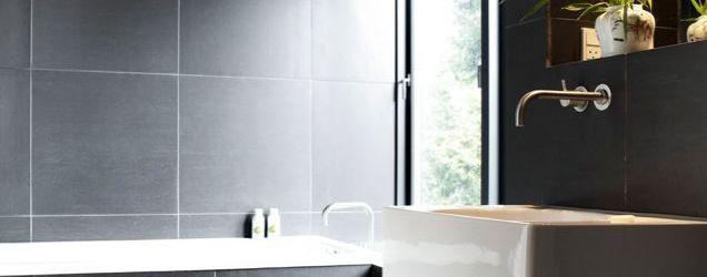 Dark Tile Bathroom