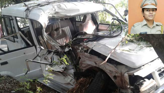 सातारा डीवायएसपींच्या गाडीला अपघात