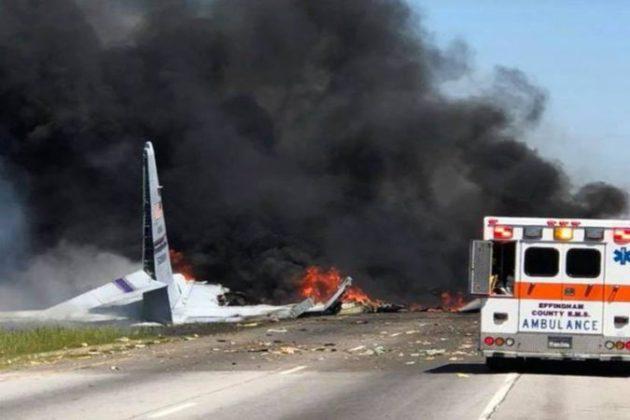 जॉर्जियामध्ये अमेरिकी लष्कराचं विमान कोसळले