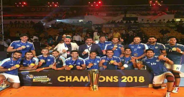 दुबई मास्टर्स कबड्डी स्पर्धेचे भारताला विजेतेपद