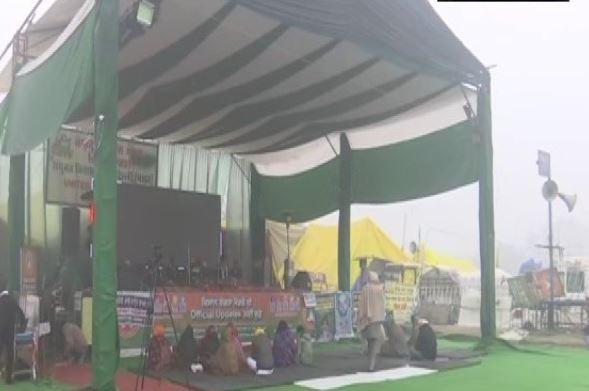 दिल्लीमध्ये कृषी कायद्याविरोधात 36 व्या दिवशी देखील शेतकरी आंदोलन कायम