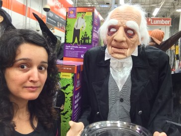 Animated butler with serving tray at the Home Depot