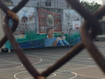 A school playground mural