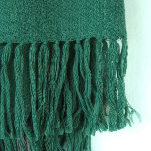 This naturally beautiful scarf has been woven on a handloom and dyed with indigo, sappanwood and tesu to give it its unique character blend of colour.Ethically made in india andcertified by Craftmark as hand woven and hand-dyed.