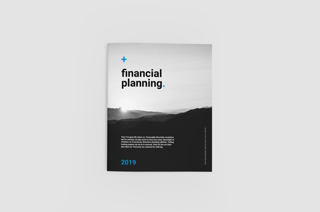Free Financial Planing Brochure Template