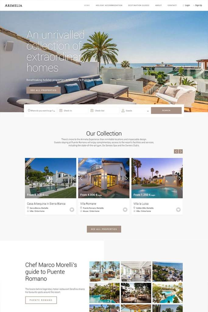 Arimelia Real Estate Web Design Template