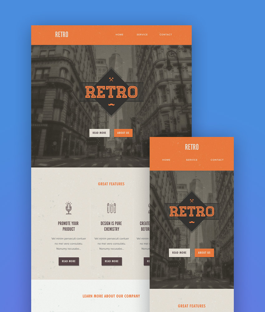 Retro - Responsive Mailchimp Newsletter Examples