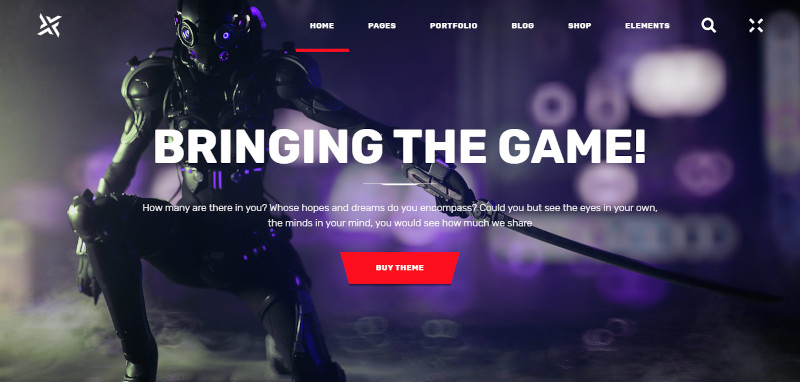 PlayerX - A High-powered Theme for Gaming and eSports - Best WordPress Gaming Themes 2020
