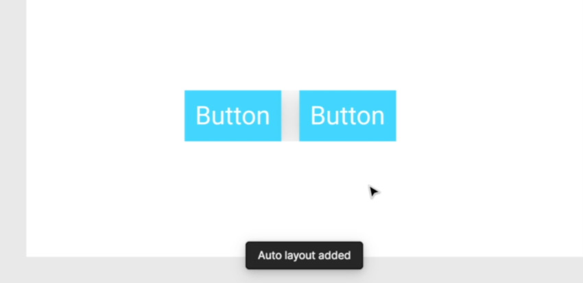 auto layout to buttons Figma