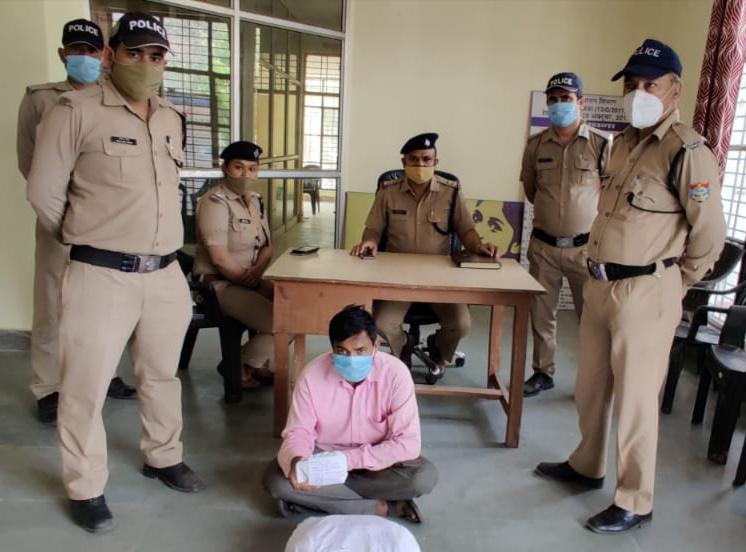 सात किलो अवैध चरस के साथ एक आरोपी को किया गिरफ्तार