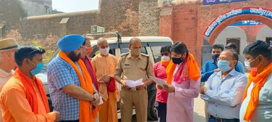 हिन्दू संगठनों ने एसपी से की विशेष धार्मिक स्थलों से लाउडस्पीकर उतरवाने की मांग