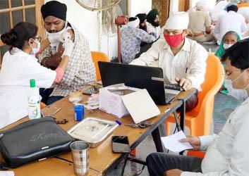 खुशालपुर शिविर में करवाया 30 लोगों ने टीकाकरण