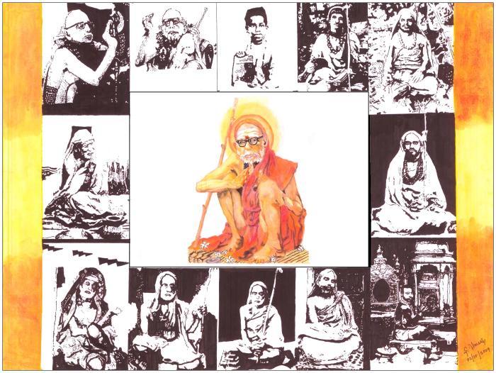 Mahaperiyavar Drawing