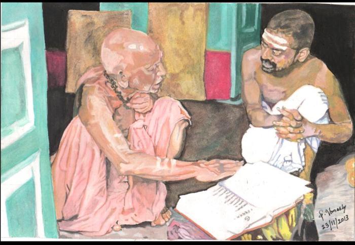 29 Mahaperiyava with Mettur Swamigal 23112013
