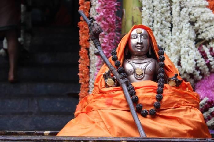 Adi Shankara smiling