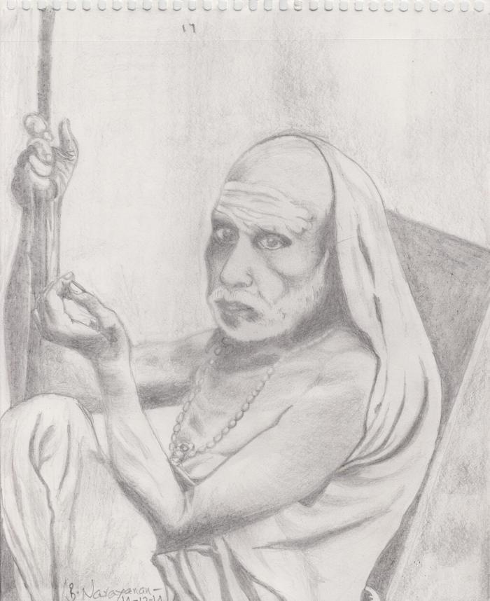 MahaPeriava_BN_Pencil_Sketch_60