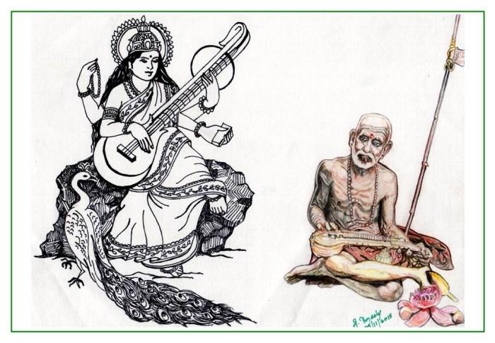 Mahaperiyava as Saraswathi