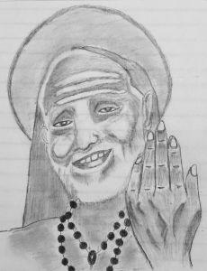 Periyava Pencil Sketch