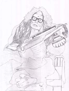 Periyava_with_Veenai_drawing_sudhan