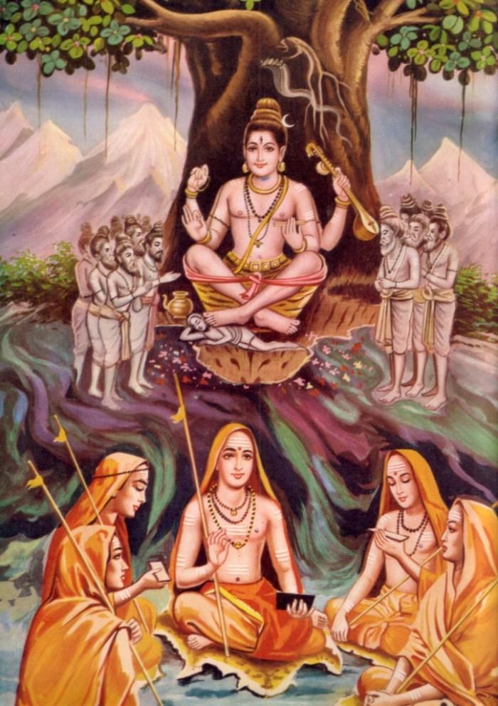 Sankara and Sishyas