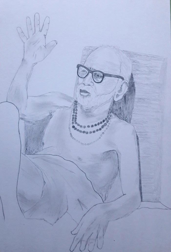 Periyava_blessing_drawing_Sudhan